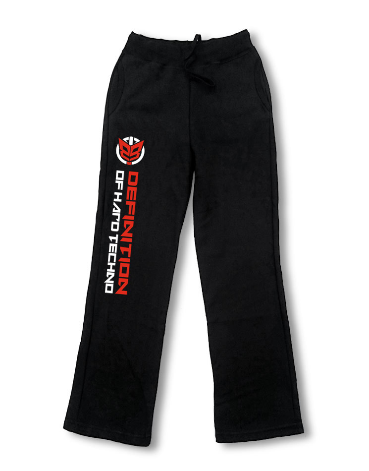 Definition of Hard Techno Logo Damen Jogginghose schwarz