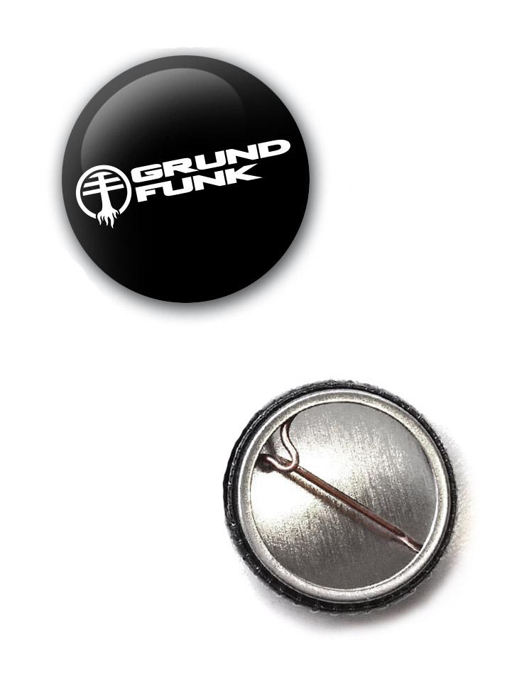 Grundfunk Button weiß auf schwarz