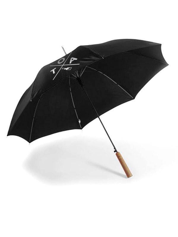 TOA Sonnen- und Regenschirm weiß auf schwarz