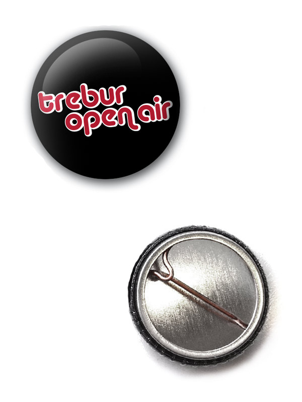 TOA Button Logo mehrfarbig auf schwarz