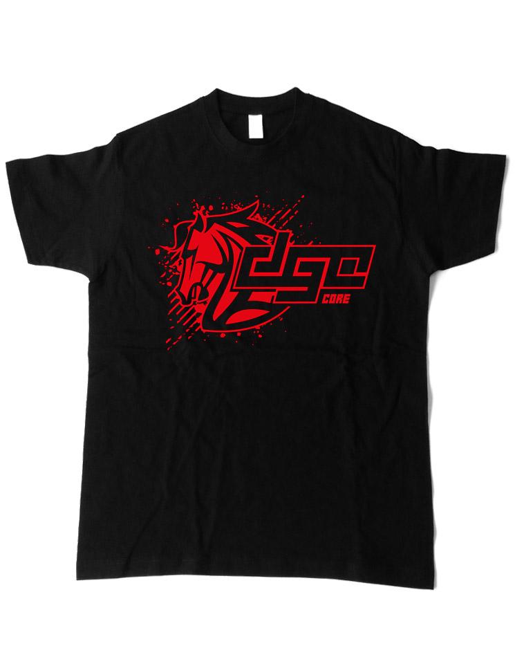 DGC Core T-Shirt rot auf schwarz