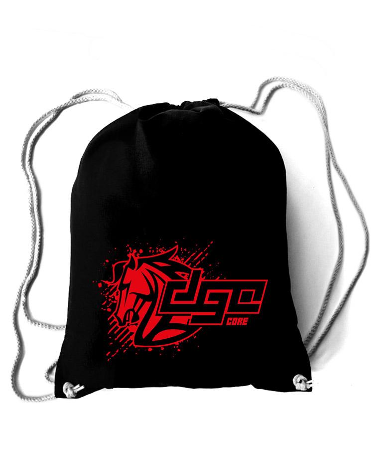 DGC Core Baumwollrucksack rot auf schwarz