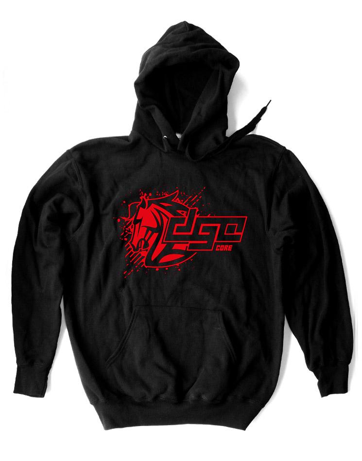DGC Core Kappu rot auf schwarz