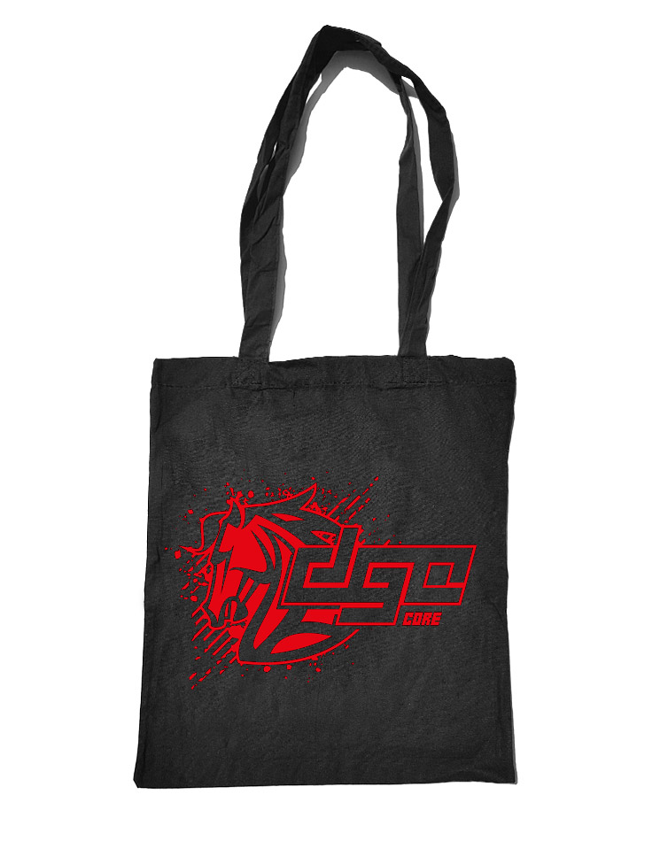 DGC Core Baumwolltasche rot auf schwarz