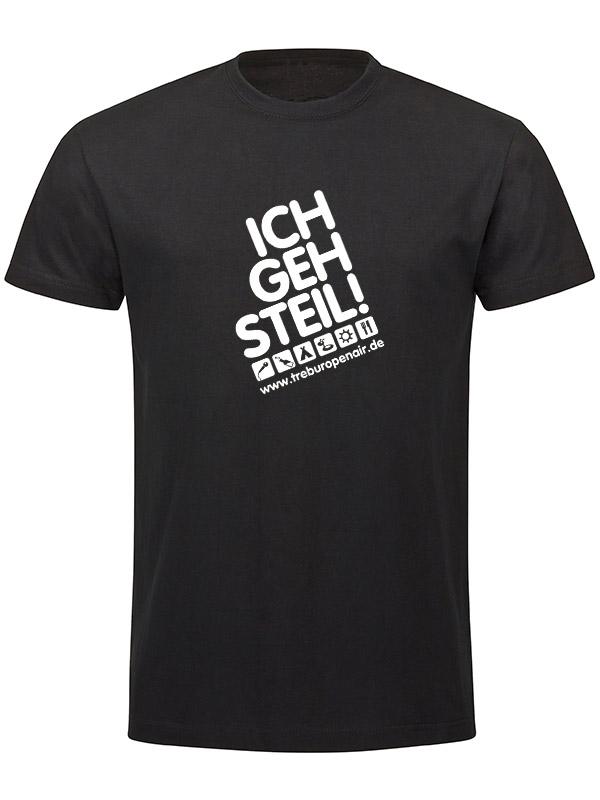 TOA Ich geh Steil T-Shirt - Unisex  mehrfarbig auf schwarz