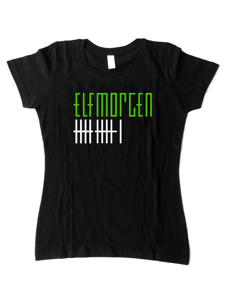 Elfmorgen Girly T-Shirt schwarz