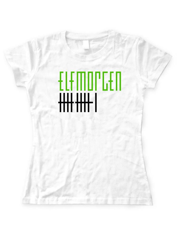 Elfmorgen Girly T-Shirt grün-schwarz auf weiß