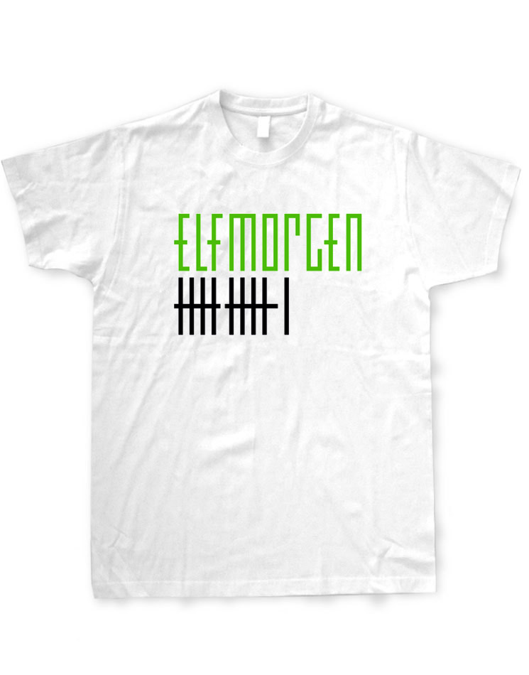 Elfmorgen T-Shirt grün-schwarz auf weiß