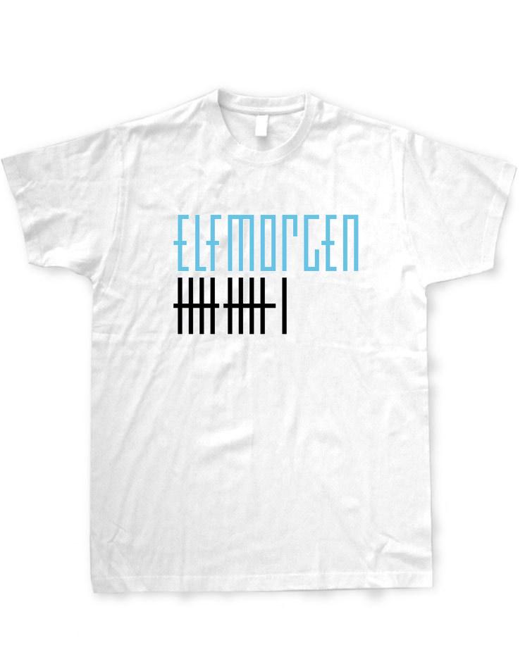 Elfmorgen T-Shirt blau-schwarz auf weiß
