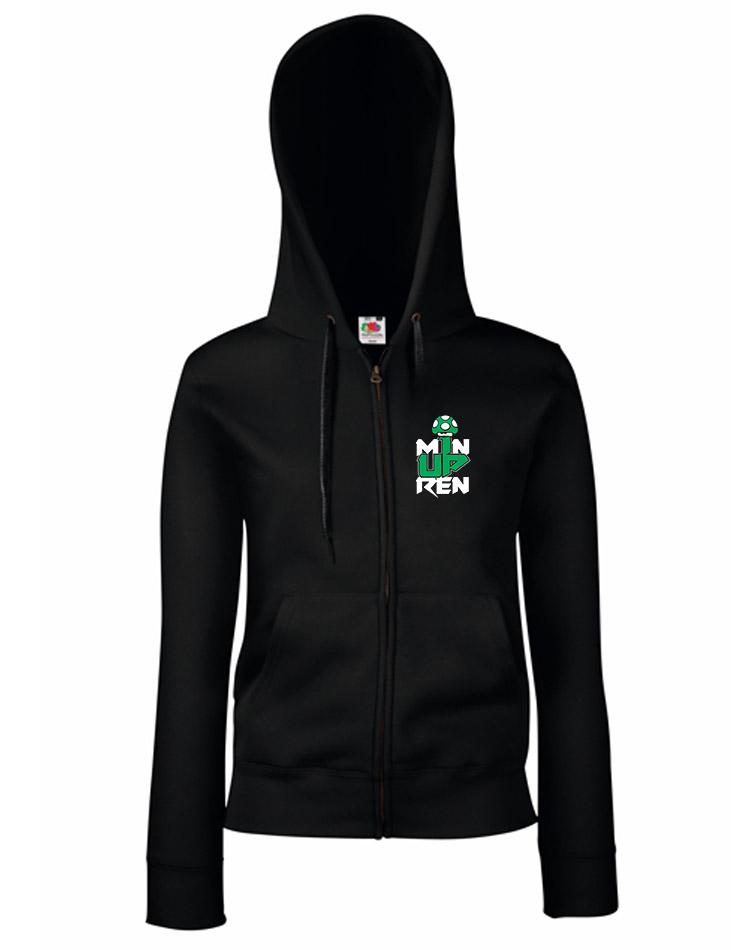 m1nup GirlyKappu-Zipper schwarz