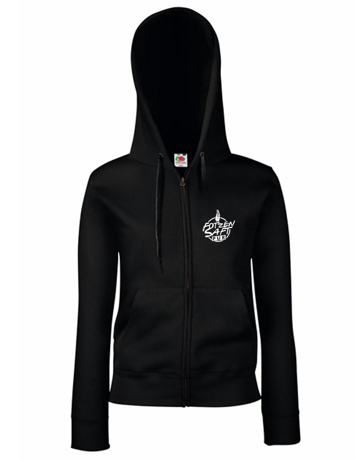 FotzenSaft Pur GirlyKappu-Zipper schwarz