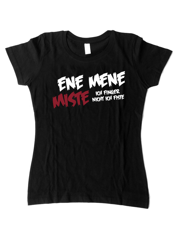 EneMeneMiste Girly-Shirt schwarz
