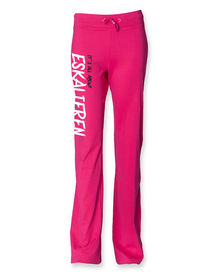 Its all about Eskalieren Damen Jogginghose rosa