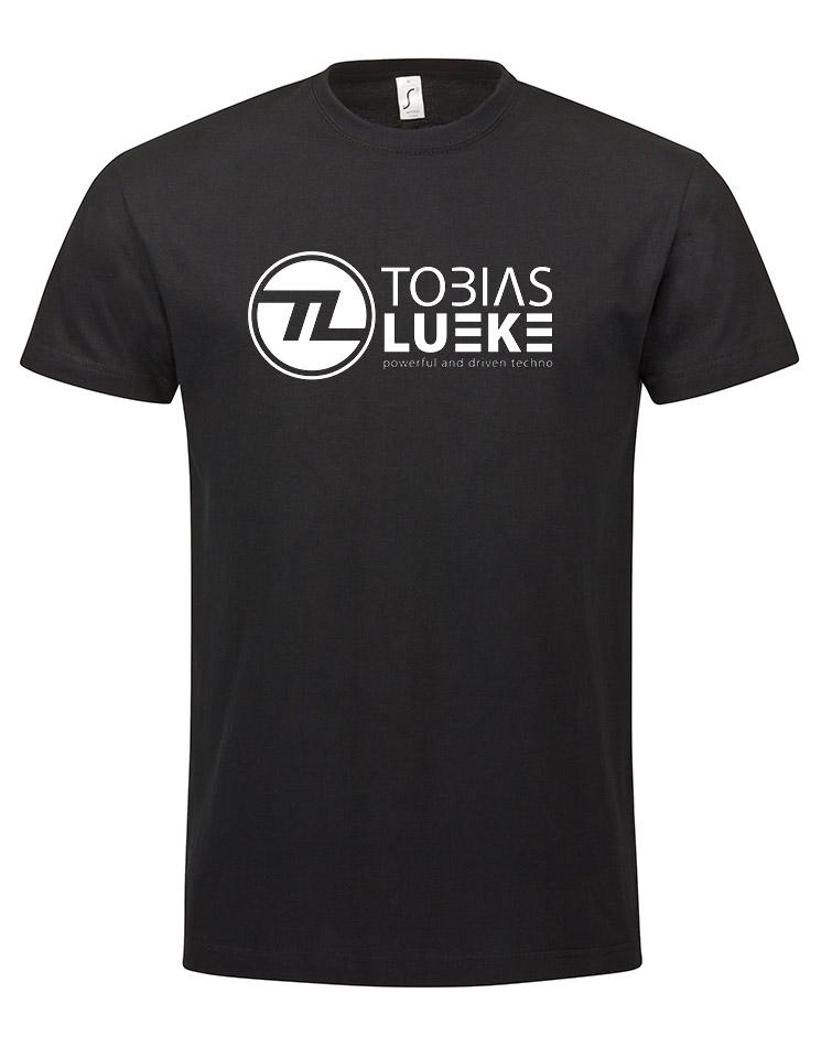 Tobias Lueke T-Shirt weiß auf schwarz