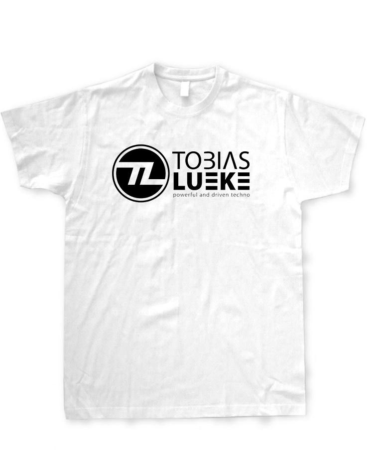 Tobias Lueke T-Shirt schwarz auf weiß