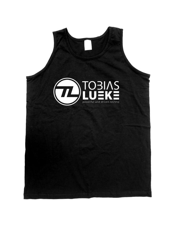 Tobias Lueke Tank Top weiß auf schwarz