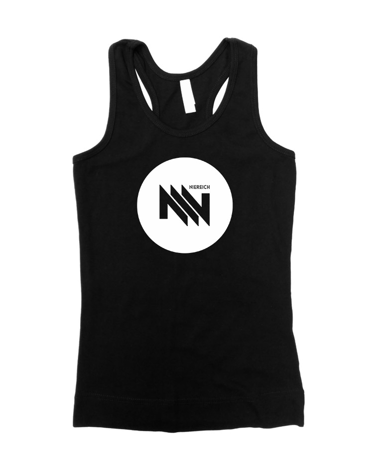 Niereich Dot-Logo Girly Tank Top schwarz