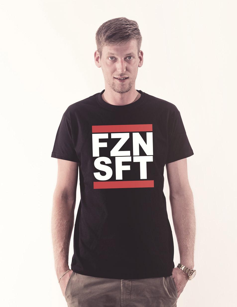 FZNSFT Shirt mehrfarbig auf schwarz
