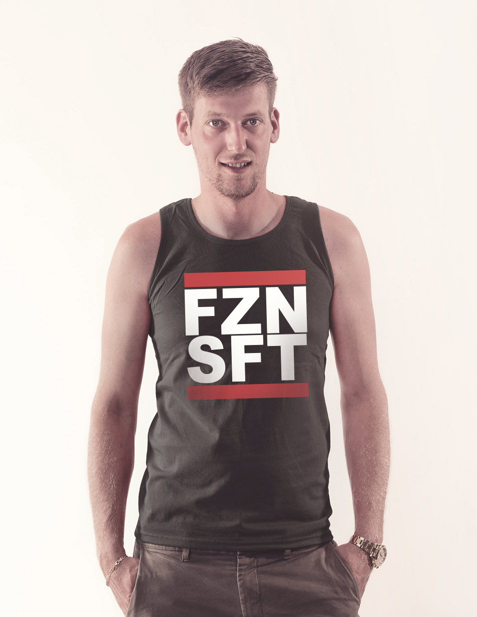 FZNSFT Tank Top mehrfarbig auf schwarz