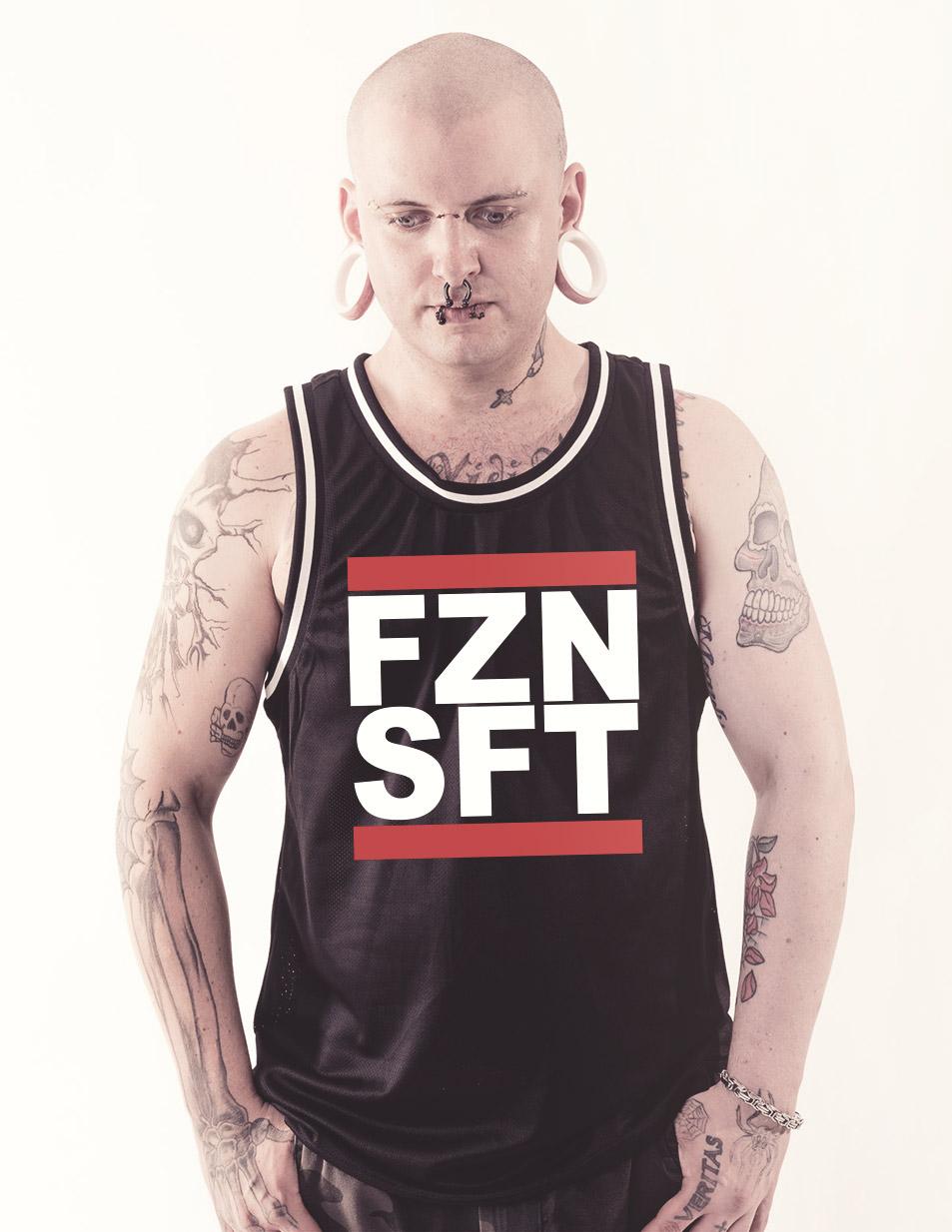 FZNSFT Mesh Tank Top mehrfarbig auf schwarz