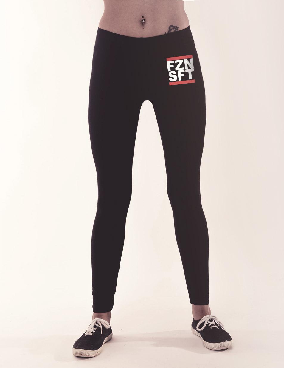 FZNSFT Leggings mehrfarbig auf schwarz