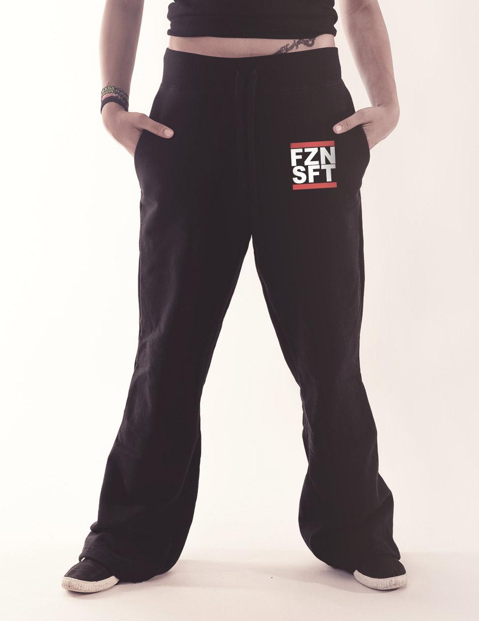 Damen-Jogginghose FZNSFT mehrfarbig auf schwarz