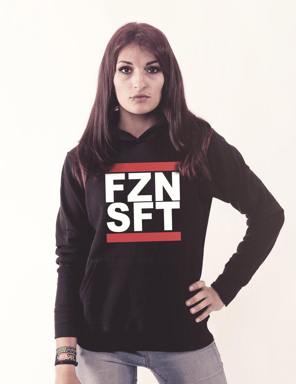 FZNSFT Girly Kappu mehrfarbig auf schwarz