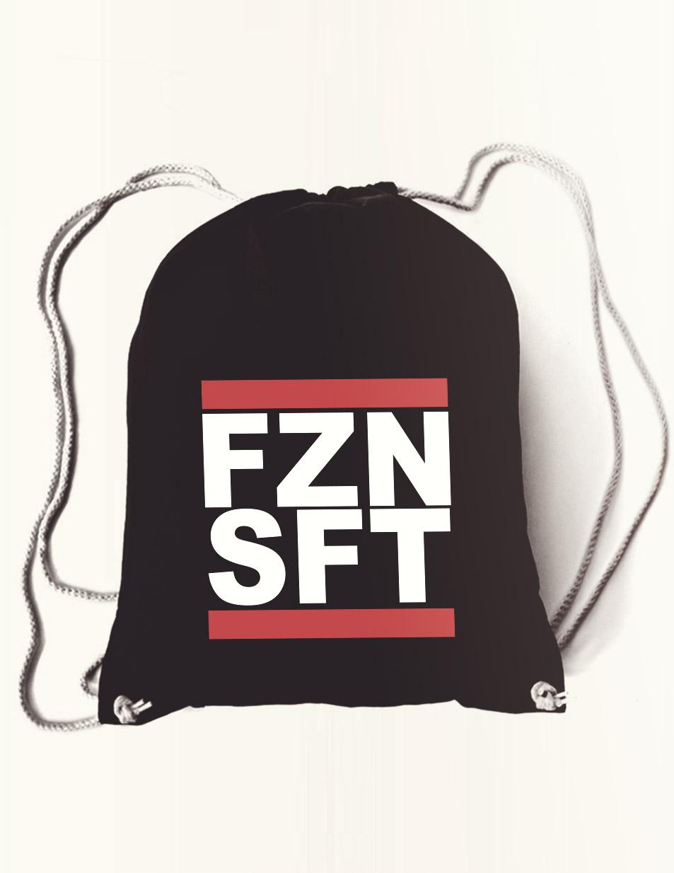 FZNSFT Rucksack mehrfarbig auf schwarz