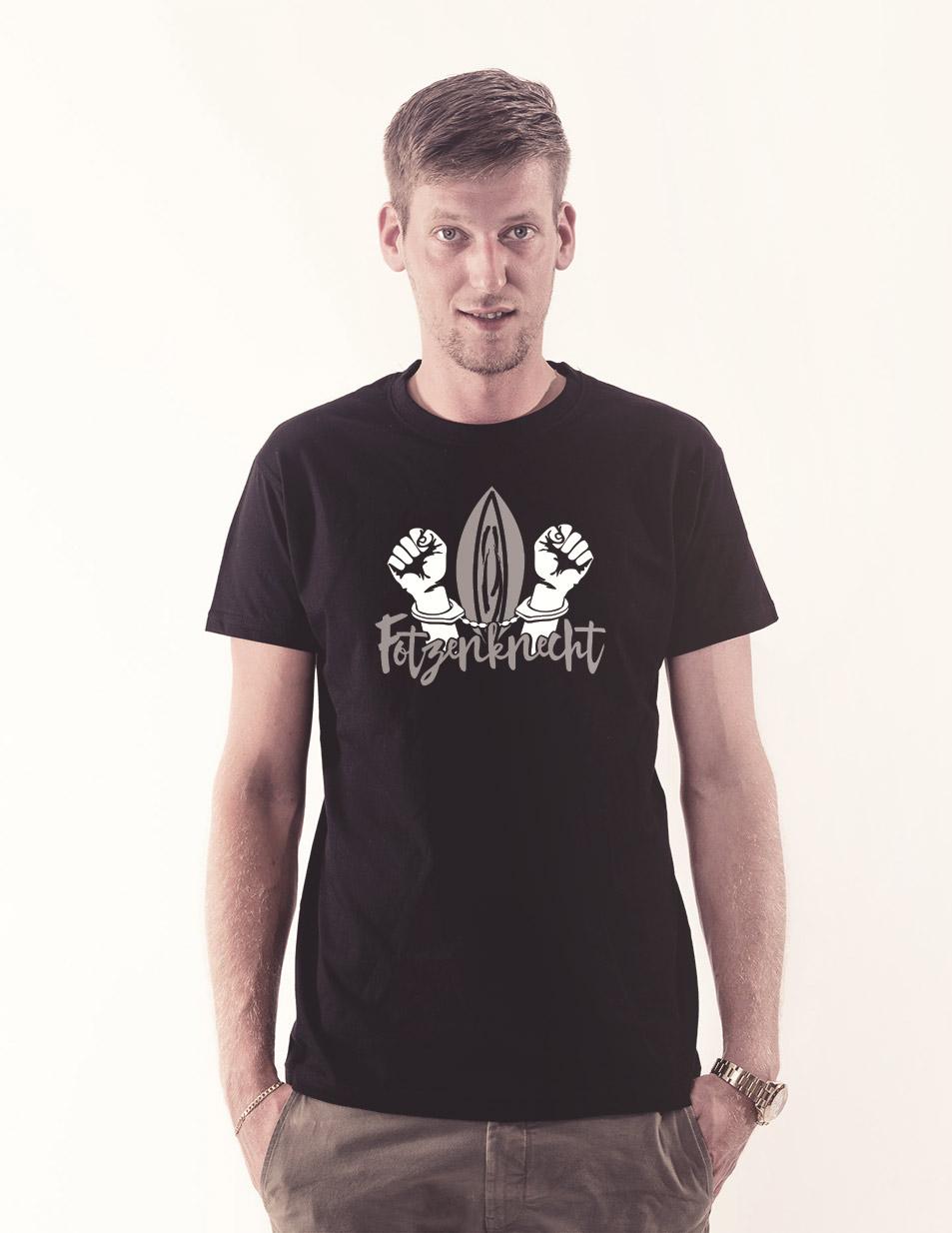Fotzenknecht T-Shirt mehrfarbig auf schwarz
