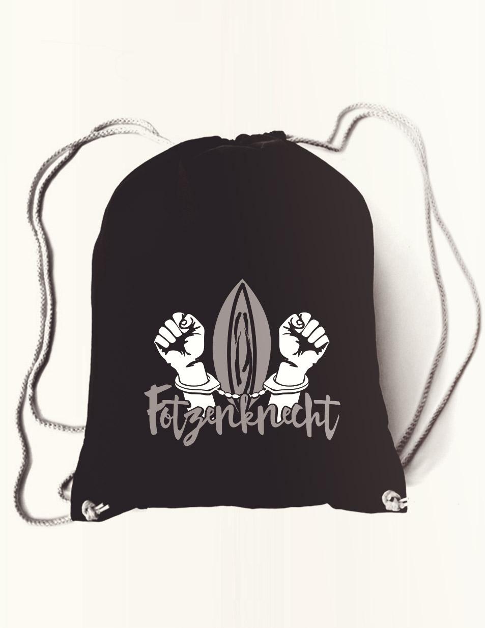 Fotzenknecht Rucksack mehrfarbig auf schwarz