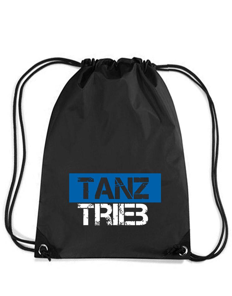 TanzTrieb Premium Gymsack mehrfarbig auf schwarz
