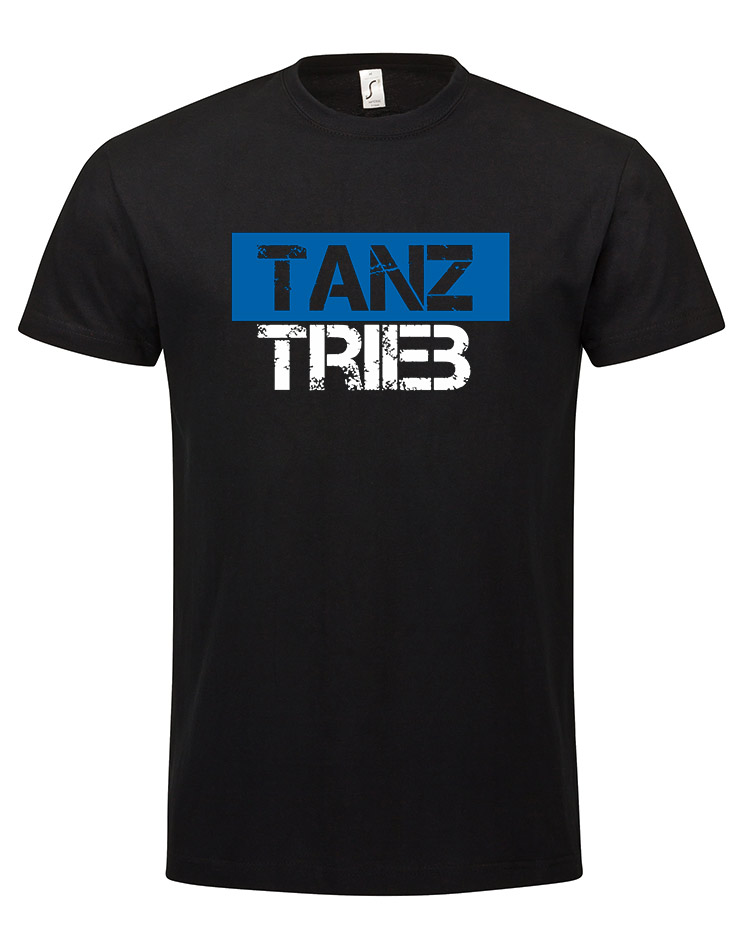 TanzTrieb T-Shirt mehrfarbig auf schwarz