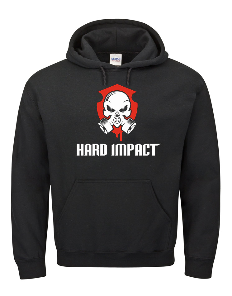 Hard Impact Kappu mehrfarbig auf schwarz