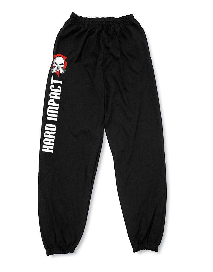 Hard Impact Jogginghose mehrfarbig auf schwarz