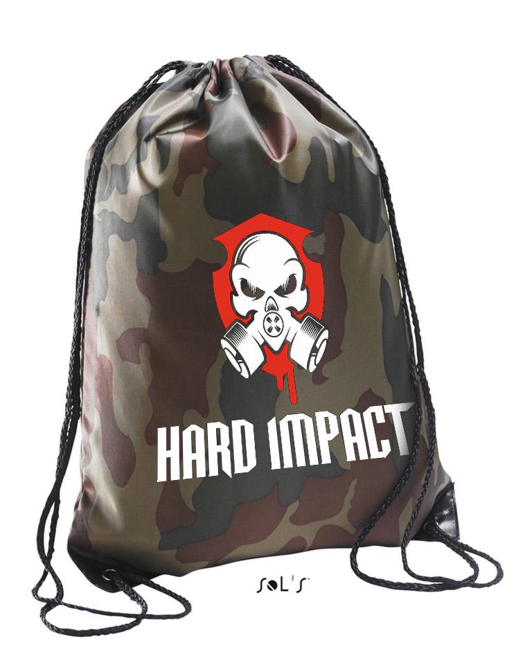 Hard Impact Premium Gymsack mehrfarbig auf camo