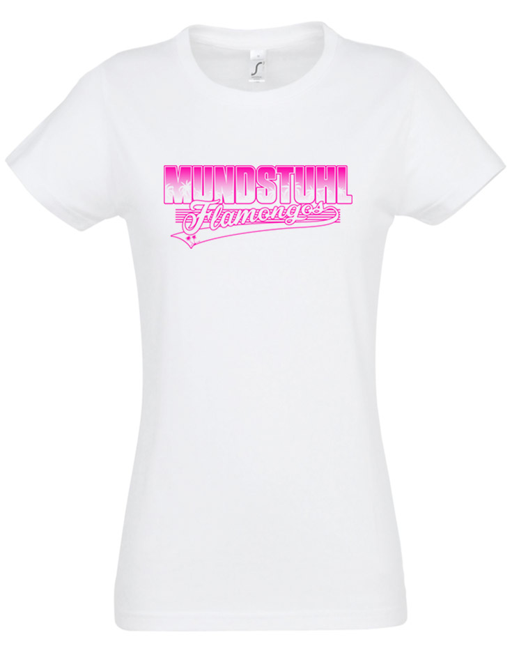 Flamongos Girly T-Shirt weiss