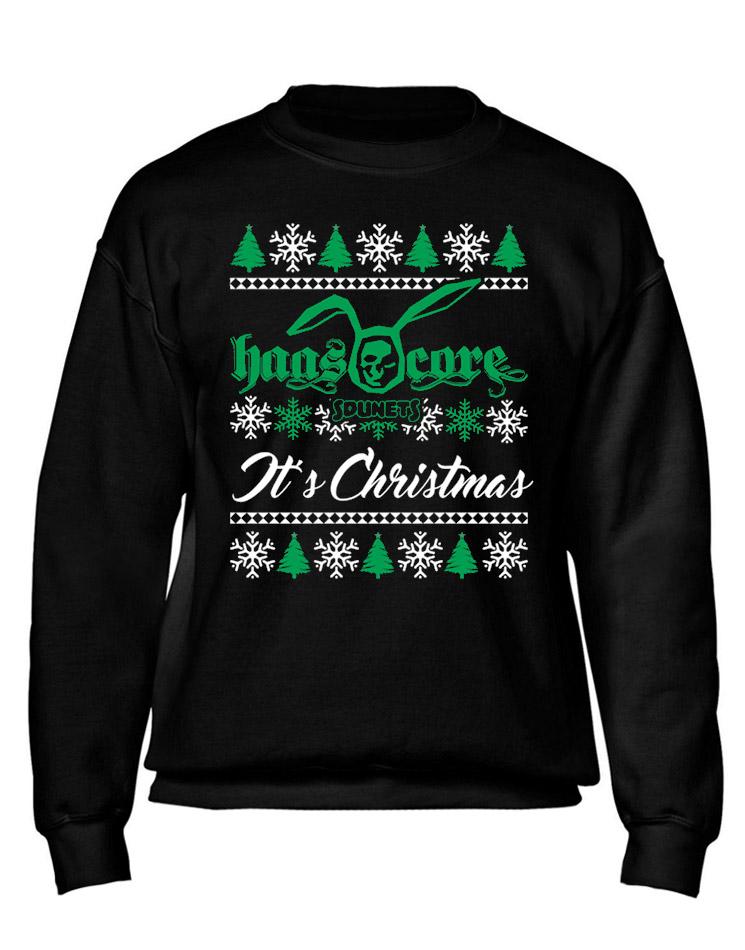 Sdunets Haascore Weihnachtspullover mehrfarbig auf schwarz