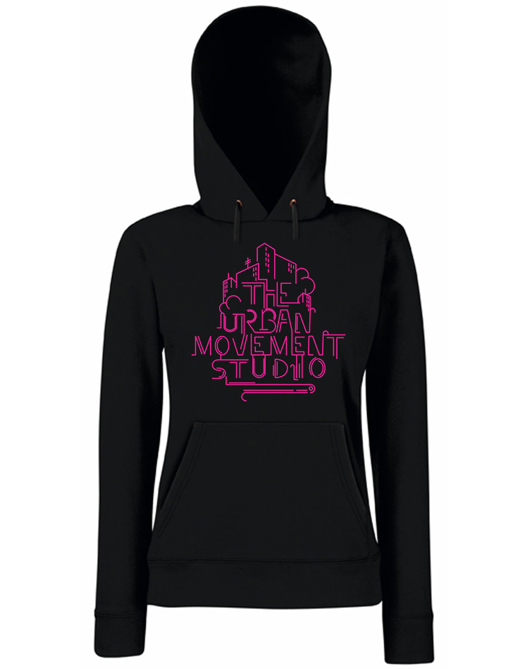 Urban Movement Studio Girly Kappu neonpink auf schwarz