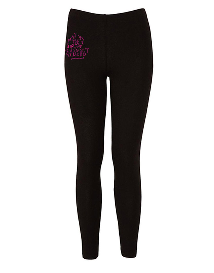 Urban Movement Studio Kinder Leggings neonpink auf schwarz