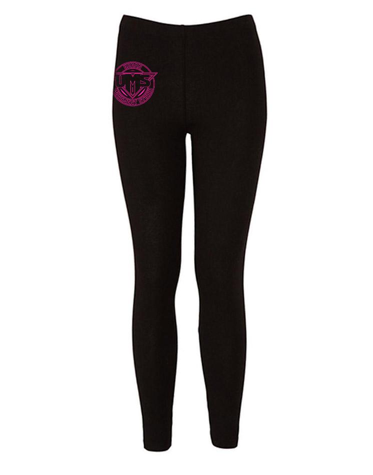 UMS Leggings neonpink auf schwarz