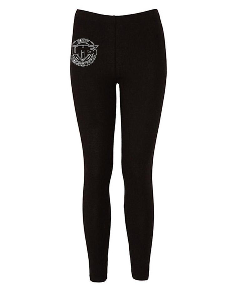 UMS Leggings weiß auf schwarz