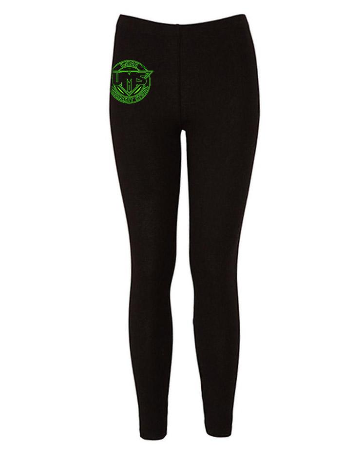 UMS Kinder Leggings neongrün auf schwarz
