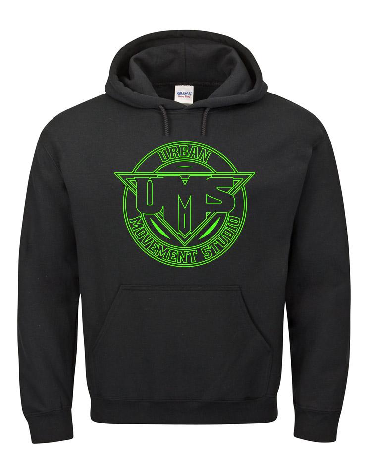 UMS Kappu neongrün auf schwarz