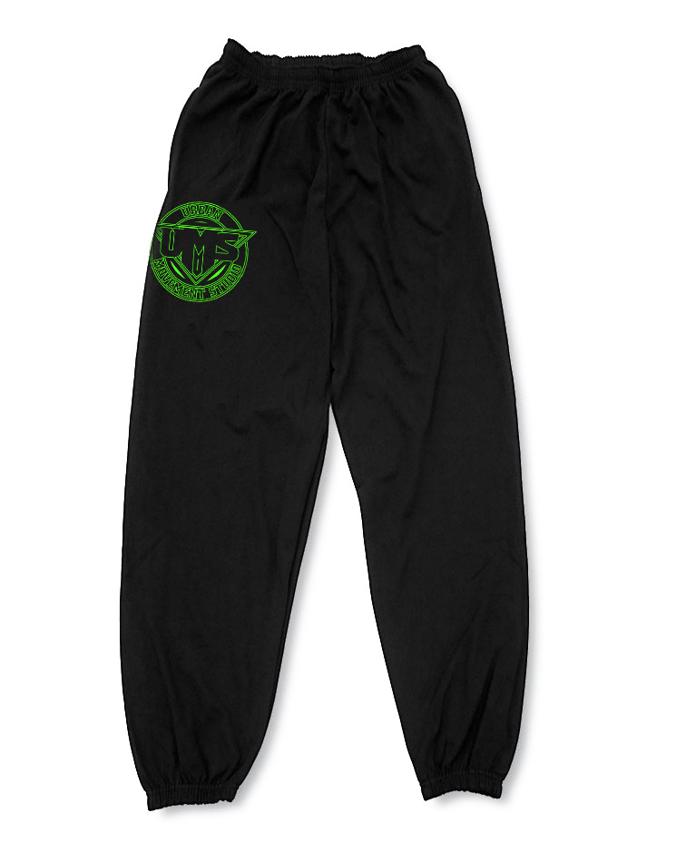 UMS Jogginghose neongrün auf schwarz
