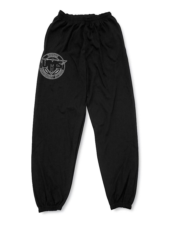 UMS Jogginghose weiß auf schwarz