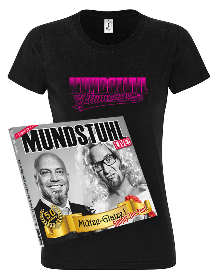 Flamongos Girly T-Shirt + LIVE CD Mütze-Glatze! Simply the Pest schwarz