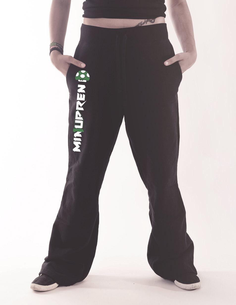 Damen-Jogginghose min1upren mehrfarbig auf schwarz