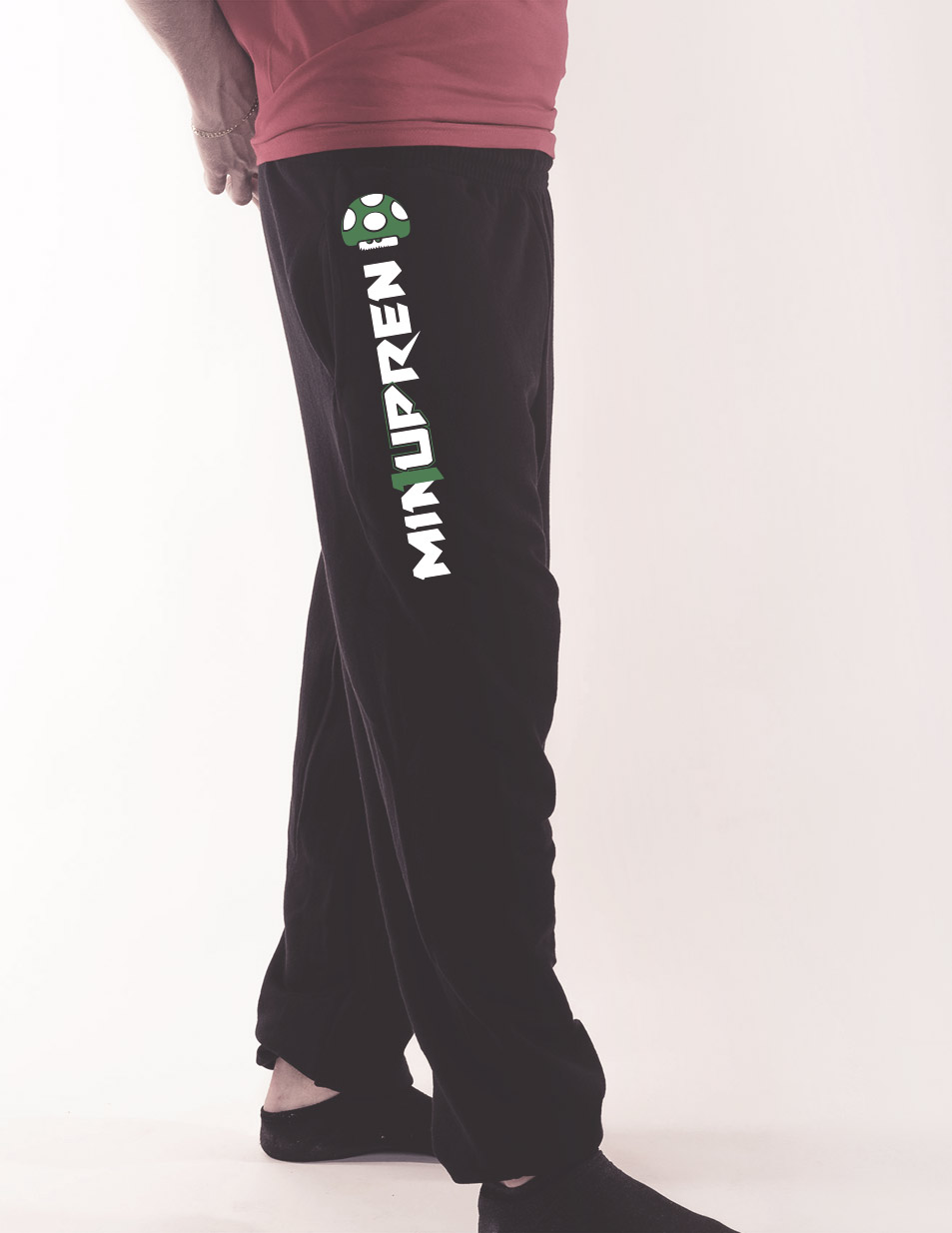 Herren-Jogginghose min1upren mehrfarbig auf schwarz