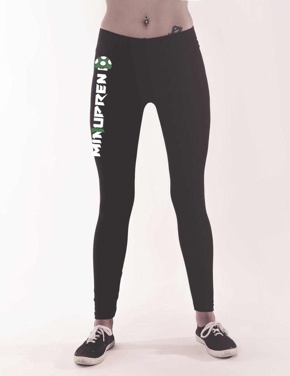 min1upren Leggings mehrfarbig auf schwarz
