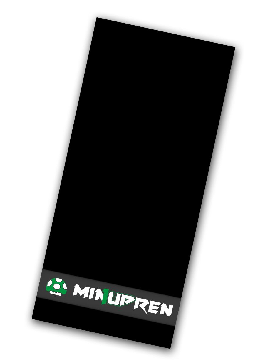 min1upren Handtuch mehrfarbig auf schwarz